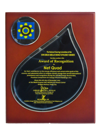 Award of Recognition to Net Quad, Don Emilio Abello Energy Efficiency Awards December 2013