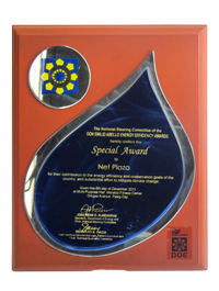 Special Award to Net Plaza, Don Emilio Abello Energy Efficiency Awards December 2011